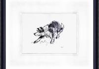 Kyffin Williams painting Sheep Dog